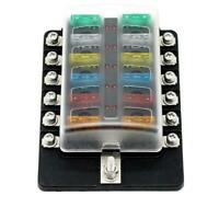 12 Way Blade Fuse Box Holder with Indicator Kit for Car Boat Truck 32V