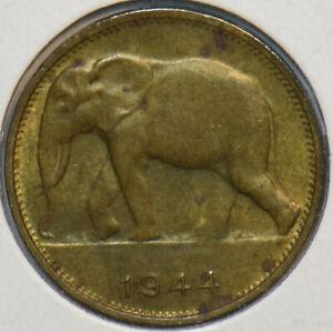 Belgian Congo 1944 Franc Elephant animal 297062 combine shipping