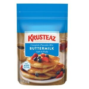 Krusteaz Buttermilk Complete Pancake Mix, 4.53kg - NEW PACK