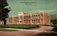Central School Hunter New York Catskill Mountains 1940's Linen NY Postcard