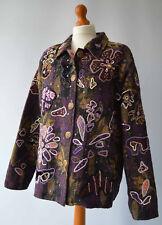 Ladies Indigo Moon Purple, Black & Green Sequined & Beaded Jacket Size L UK 18