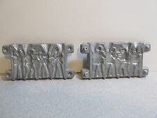 Vintage GANGSTER LEAD MOLDS - FLAT FIGURES -See my WW2 Army Soldier Molds MARX