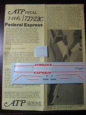 1/144 ATP DECALS BOEING 727-22C FEDERAL EXPRESS  DECALCOMANIE