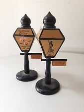 Vintage New York Lamp Post Salt Pepper Shakers Made In Japan Fifties