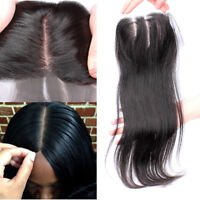 silk base 100% Brazilian Human Hair Lace frontal for Wig silk lace Closure 4*4""