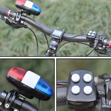 6bike bicycle police led light + 4 loud siren sound trumpet cycling horn bel  HO