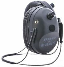 Pro-Ears Pro Tac Plus Gold Low Profile Nrr 26 Earmuffs, Black, : Gs-Pt300-B-Bh-L