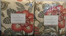 Pottery Barn Set/2 Allegra Palampore Drape Pole Top W/ Blackout Lining 50 x 108