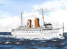 "ORIGINAL AQUARELL - Passagierschiff ""Princess Patricia""."