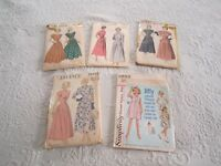 5 Vintage ADVANCE & SIMPLICITY SEWING PATTERNS Size 4 & 14 c1940-50'S FREE SHIP