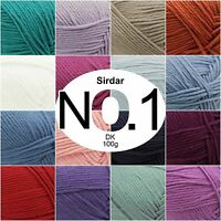 Sirdar No. 1 DK Double Knitting Beautifully Soft Knit Crochet Wool Yarn 100g