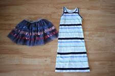 Witchery & Target: Bulk, Girls Striped Maxi Dress, and Sequinned Skirt, Size 4