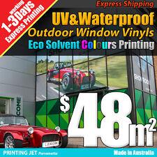 Outdoor Vinyl Sticker Shop Window Sign Printing - (one way vision / gloss vinyl)
