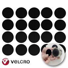 10x BLACK HEAVY DUTY VELCRO® STICK ON CIRCLES Self Adhesive 45mm Hook Loop Coins