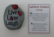 bb Live love laugh Ladybug Crossing Stone Figurine Ganz