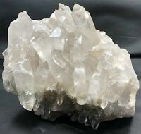 "6.5"" Clear Crystal Quartz Points Natural Stones Cluster Specimen Brazil Healing"