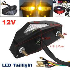 12V LED Motorcycle Turn Signal Tail Light Fender Edge Brake License Plate Light