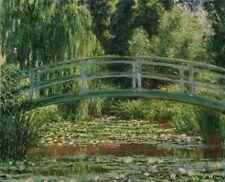Claude Monet The Japanese Bridge Painting Giclee CANVAS Print Repro Art SM 8x10