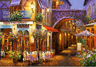 Framed canvas art print giclee romantic outdoor cafe restaurant sunset Italy