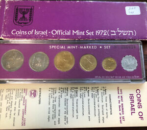 1972 Official Mint COINS OF ISRAEL Set of 6 Uncirculated Coins