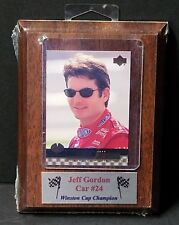 Jeff Gordon Collectors Card Plaque Winston Cup Champion New Shrink Wrap NASCAR