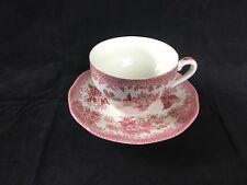 "Vintage Pink ""Asiatic Pheasants"" Parliament/Premiere Flat Cup & Saucer Imperfect"
