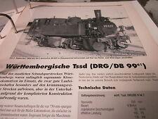 Neben - Schmalspurbahnen 15 Württembergische TssD (DRG/DB 99.61)