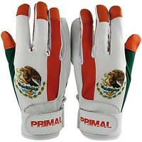 MEXICO Flag Adult Men's Baseball Batting Gloves Size Large