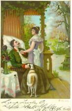 Rare Old Postcard Irish Red & White Setter Dog Netherlands c1908
