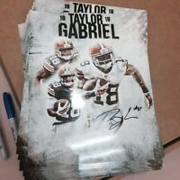 TAYLOR GABRIEL Autographed CLEVELAND BROWNS PHOTO #18 Gameday holo Edit B