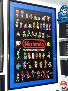 Nintendo NES Classic Edition System Game Room Poster 24x36!