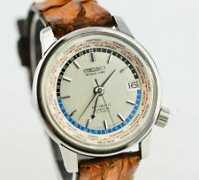 J676 Vintage Seiko Olympic World Time GMT Automatic Watch 6217-7000 JDM 120.1