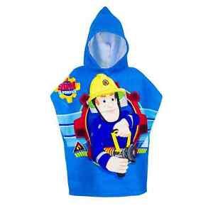 Fireman Sam Kids Poncho Towel