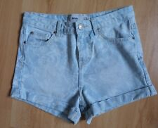 New Look Girls Ladies Shorts 8 Mom High Rise Denim Floral Hot Pants Summer