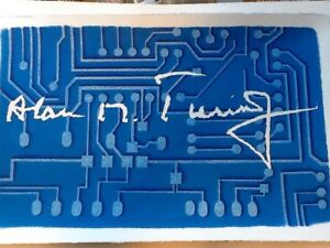 Alan Turing signature by Julia Turing art, poster collectables