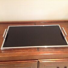 Glass and chrome art deco cocktail tray
