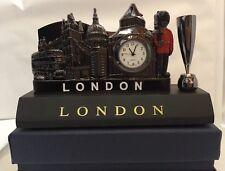 Pen & Card Holder Table Clock London England British Souvenir Gift