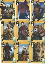 MARVEL COMICS GUARDIANS OF THE GALAXY MOVIE ACE THROUGH KING OF SPADES CARDS