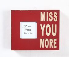 "Miss You More Wood Chunky Frame Box Sign Great Gift 5.5""H x 6.5""L x 1.5""W NWT"