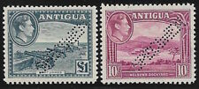 ANTIGUA 1946-48, top values 10sh and 1 GBP, Victory set perf SPECIMEN **,SG 230-