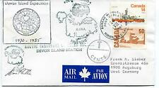1985 Resolute Devon Island Canada Polar Antarctic Cover SIGNED