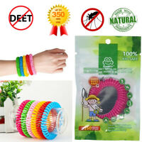 Adults Kids Mosquito Bug Insect Repellent Wristband Safe Waterproof Deet-Free