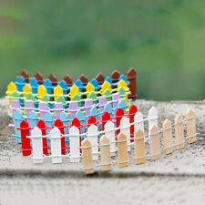 10Pcs  Lattice Fence Mini Signs Fairy Garden Plant Dollhouse Figurine QA