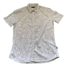 Paul Smith Mens Leaf Pattern Short Sleeve Shirt