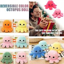 Double-Sided Flip Reversible Octopus Plush Toy Marine Life Christmas Gift Dolls
