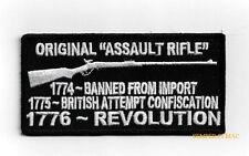 ORIGINAL ASSAULT RIFLE BANNED REVOLUTION HAT PATCH US PIN UP 2ND AMENDMENT VET