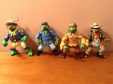 Lot of 4 TMNT Teenage Mutant Ninja Turtles Figures Wild West Western Leo Don B10