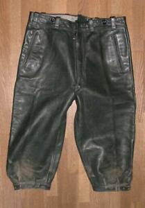 Kinder- Trachten- Kniebund- LEDERHOSE / GLATTLEDER Trachtenhose in grün ca. 152