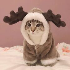 Reindeer Christmas Cat Cat Costume Cat Suit Cloth For Cat (Santa Cat)