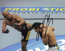Anderson Silva Originale Autografato 10X8 Foto (UFC) BRASILE AFTAL COA (C)